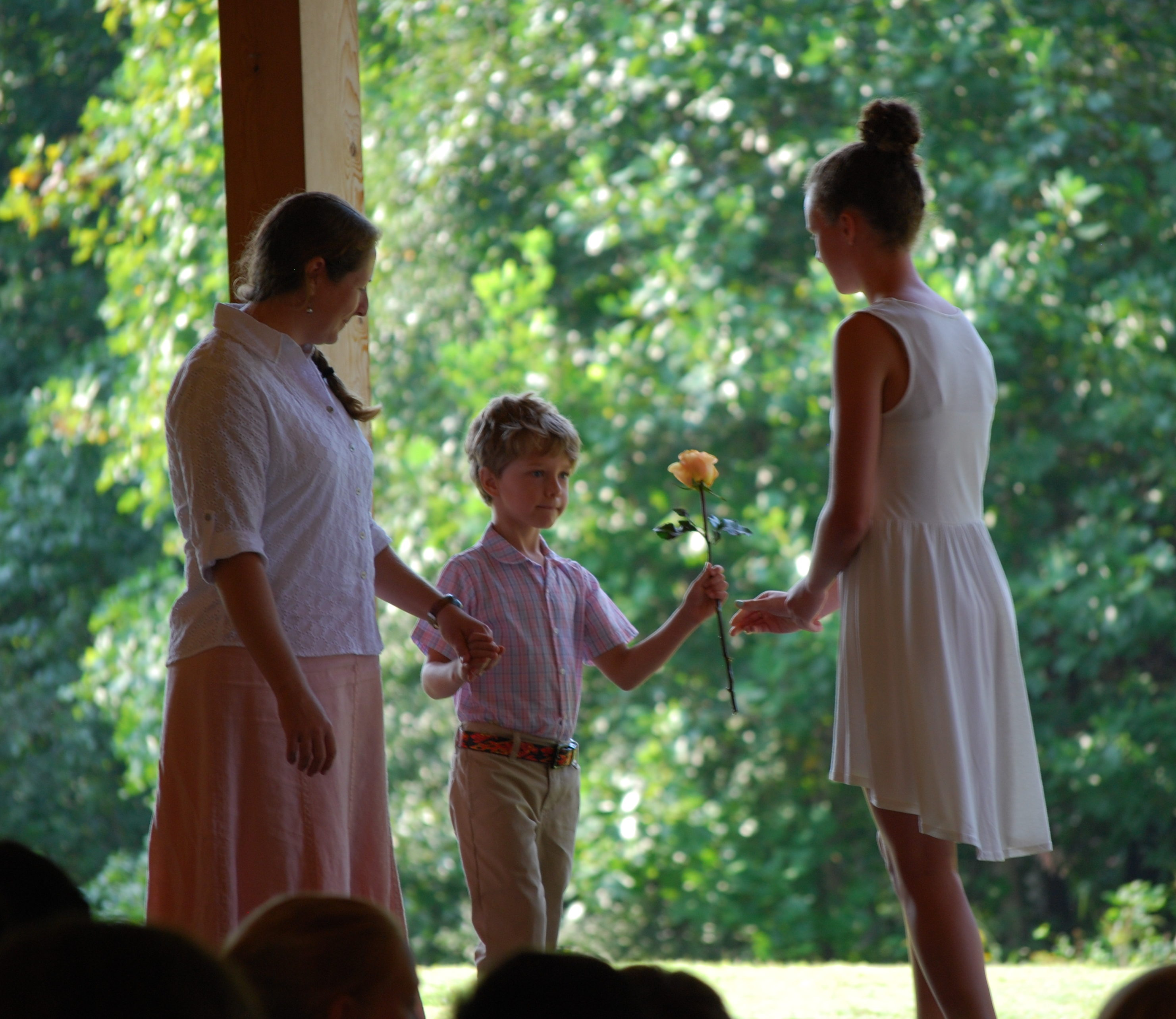 First Day of First Grade Rose Ceremony at the Waldorf School