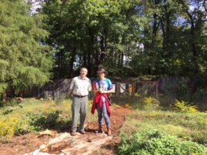 Jerre Creighton of the DOF and Dana Pauly (Master Gardener and Teacher)