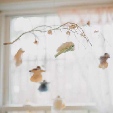 hanging fairies in the waldorf early childhood classroom